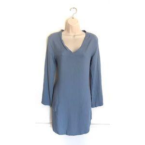 Anthropologie Cloth & Stone Blue Long Sleev Dress